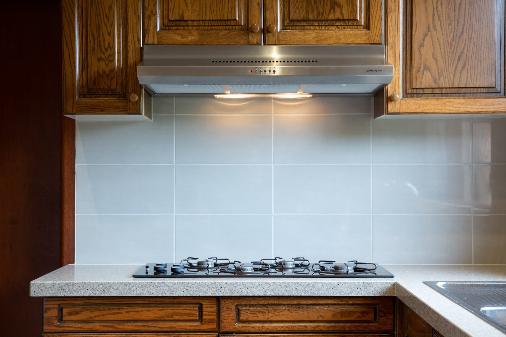 tiled splashback